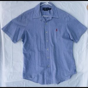Men's Large Blue Polo By Ralph Lauren shirt